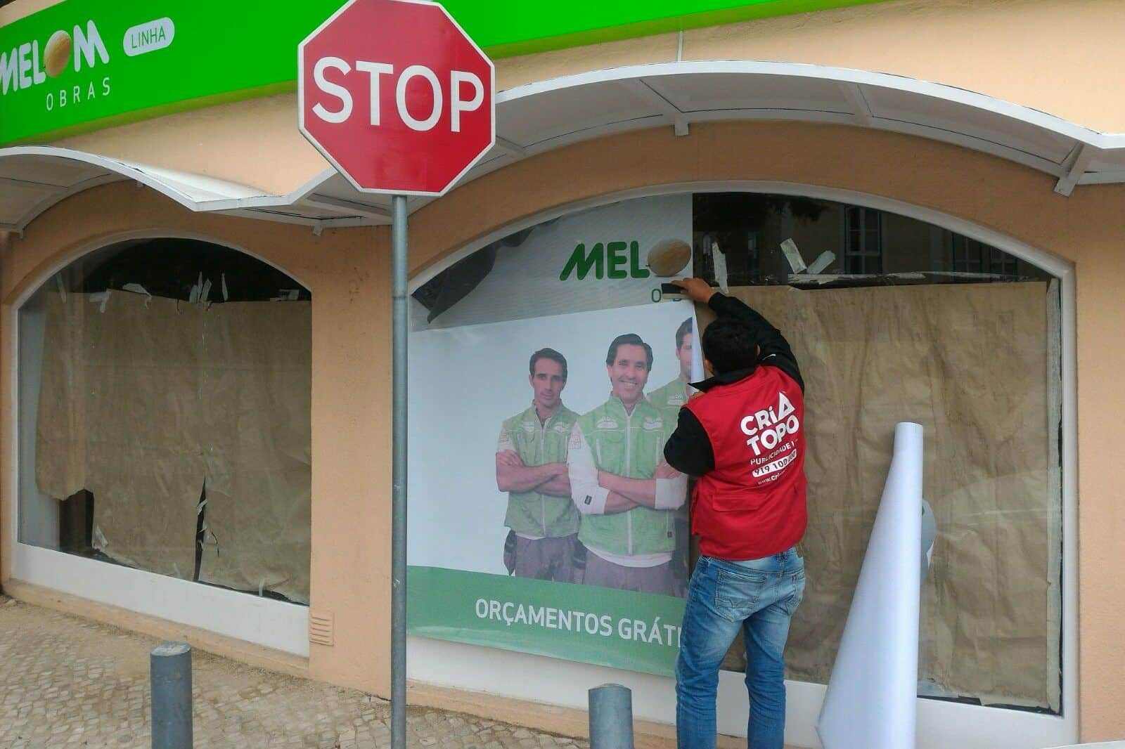 decoração de montras publicidade lojas em Lisboa