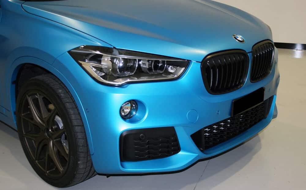 Car Wrap BMW X1 vinil 3M Satin Ocean Shimmer Lisboa