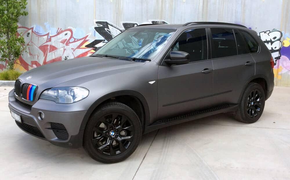Bmw X5 Car Wrap 3m Matte Dark Grey Lisboa Criatopo